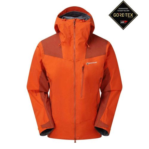 CHAQUETA MEN'S ALPINE RESOLVE WATERPROOF NARANJA ROJO - MONTANE
