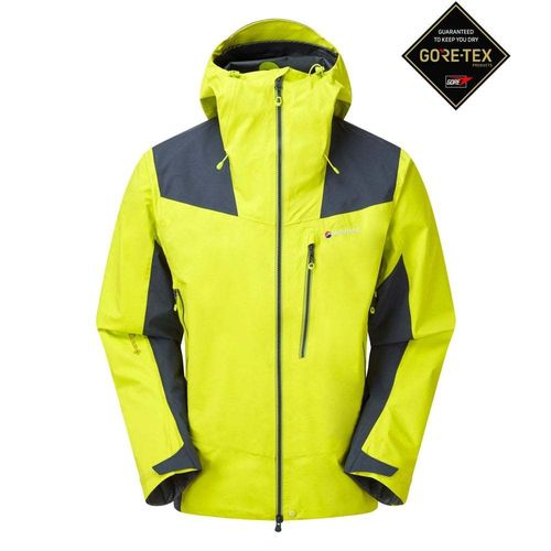 CHAQUETA MEN'S ALPINE RESOLVE WATERPROOF VERDE CITRUS - MONTANE