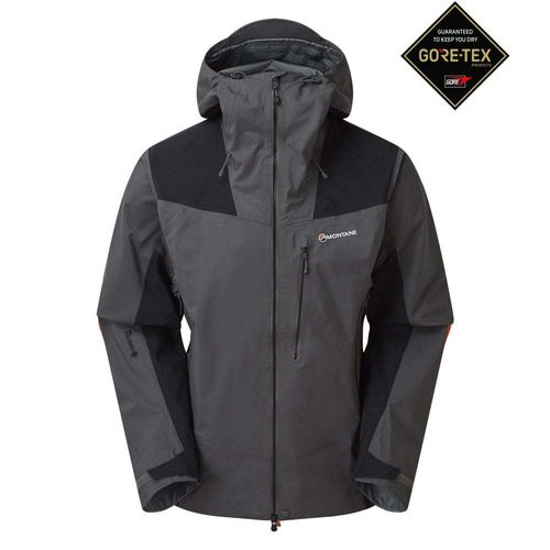 CHAQUETA MEN'S ALPINE RESOLVE WATERPROOF GRIS PIZARRA - MONTANE