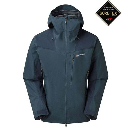 CHAQUETA MEN'S ALPINE RESOLVE WATERPROOF AZUL ORION - MONTANE